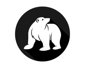 black circle polar bears fauna animal wildlife image vector icon silhouette