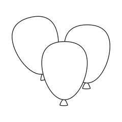 balloons air party decorative vector illustration design