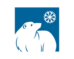 winter polar bears fauna animal wildlife image vector icon silhouette
