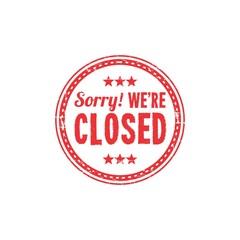 Closed Sign Logo