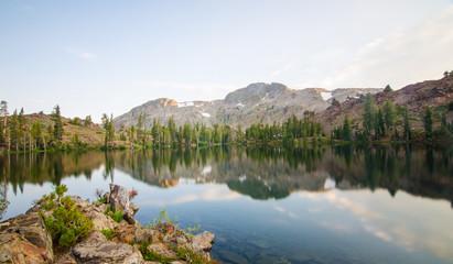 Mountain Lake Reflection Sunset