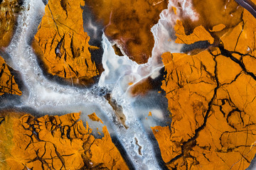 Mineral Design, Macro Closeup of Sliced Rock