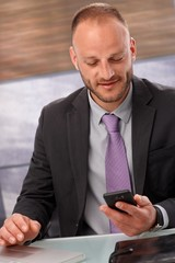 Businessman using mobilephone