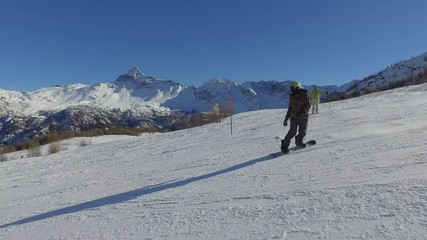 Fototapete - 4K - Snowboard