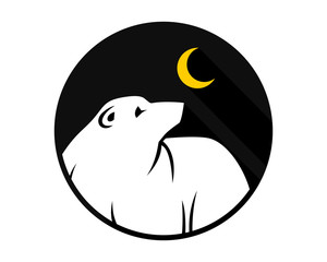 night bear fauna animal wildlife image vector icon silhouette