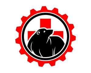 medical gear bear fauna animal wildlife image vector icon silhouette