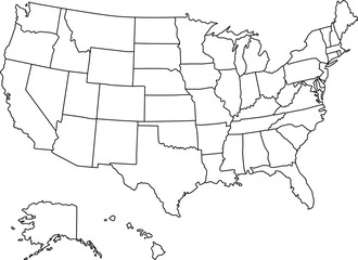 Super Detail American Map Vector