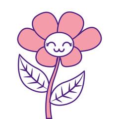 kawaii cute flower ornament cartoon vector illustration pink image design
