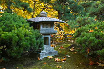 Beautiful Japanese Garden in Portland Oregon USA
