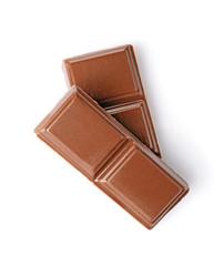 Close-up pieces of milk chocolate bar