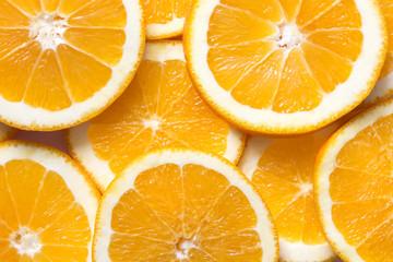 Fresh, juicy slices of orange. Orange fruit background