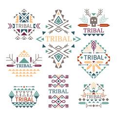 Tribal logo set