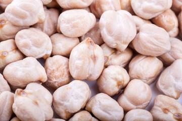 Dry chickpeas macro texture