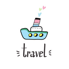 let's travel card and lettering