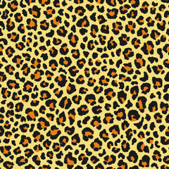 Leopard seamless pattern. Animal print. Vector background