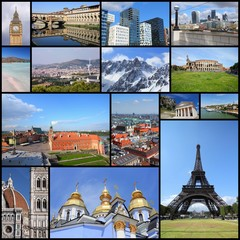 Europe landmarks collection