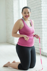 The woman with excess weight