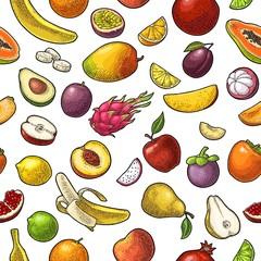 Seamless pattern fruits.