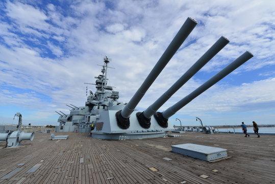 A Dakota class Battleship in Alabama