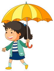 Girl with yellow umbrella
