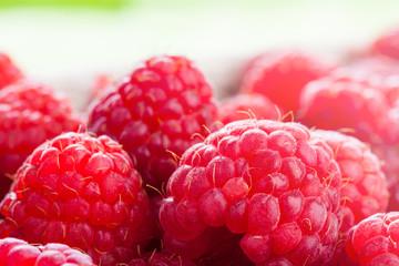 Fresh raspberries close up