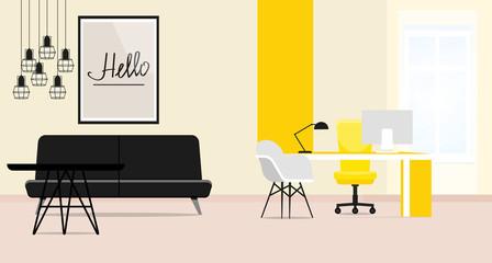 Office interior. Vector illustration.