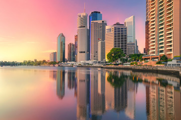 Fototapete - Brisbane. Cityscape image of Brisbane skyline, Australia during sunrise.
