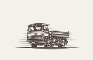 Delivery Truck Illustration. Vector. eps10.