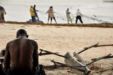 Poster Zanzibar pescatori di Zanzibar