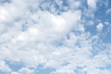 Clouds on the blue sky, texture or background