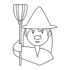 cartoon witch icon