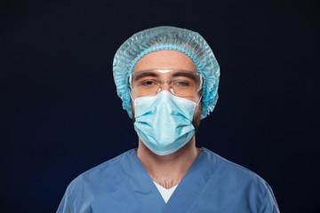Close up portrait of a male surgeon