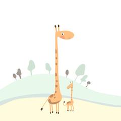 funny cartoon giraffes