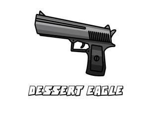 pistol weapon model dessert eagle cartoon design
