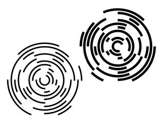 Design element Circular target effect on white background02