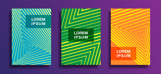 Posters with abstract geometric pattern covers design. vector business banner template. Eps10