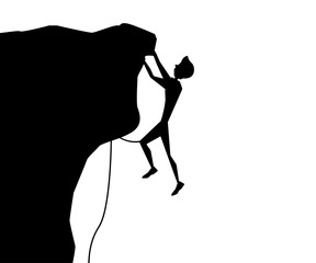 rock climbing silhouette cartoon design