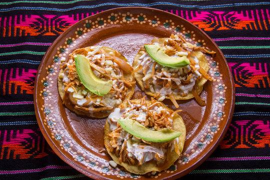Mexican tinga tostadas