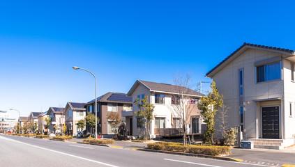 東京郊外の新興住宅街