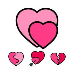 Heart Type for valentine romance wedding assets element