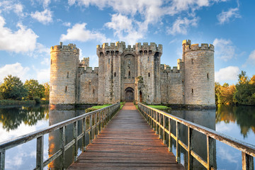 Poster Historical buildings Bodiam Castle in England