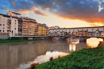 Florence Ponte Vecchio sunrise