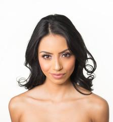 Beautiful woman bare shoulders