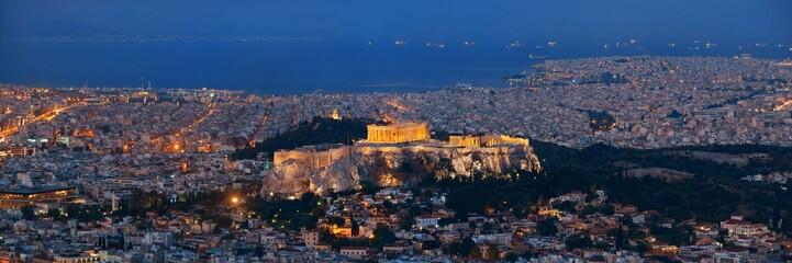 Athens skyline from Mt Lykavitos panorama