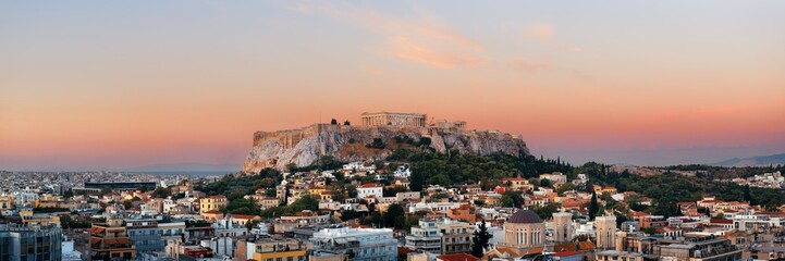 Acrylic Prints Athens Athens skyline rooftop panorama sunset