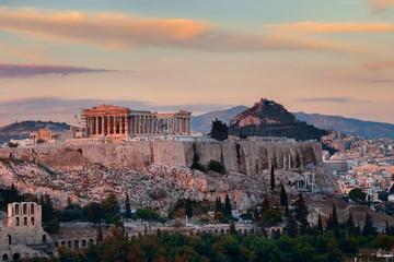 Athens skyline sunrise