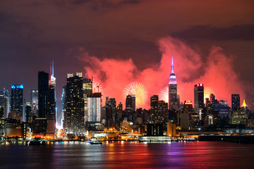 Fotomurales - New York City Fireworks