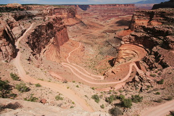 View from Shafer Canyon Viewpoint in Canyonlands NP in Utah in the USA