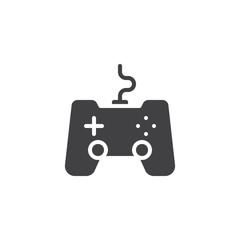Game, joystick icon vector, filled flat sign, solid pictogram isolated on white. Gamepad symbol, logo illustration.