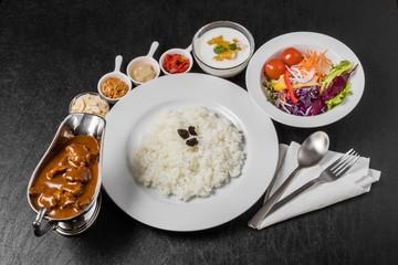 カレーライス typical curry and rice Japanese style